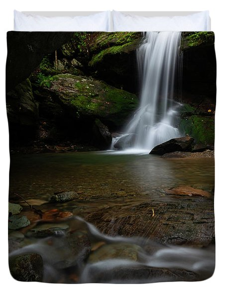 Otter Falls - Seven Devils, North Carolina Duvet Cover