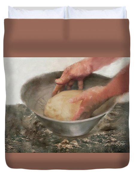 Our Daily Bread Duvet Cover