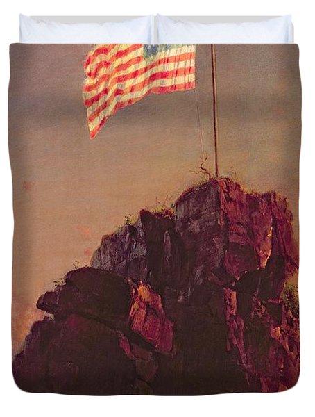 Our Flag Duvet Cover by Frederic Edwin Church