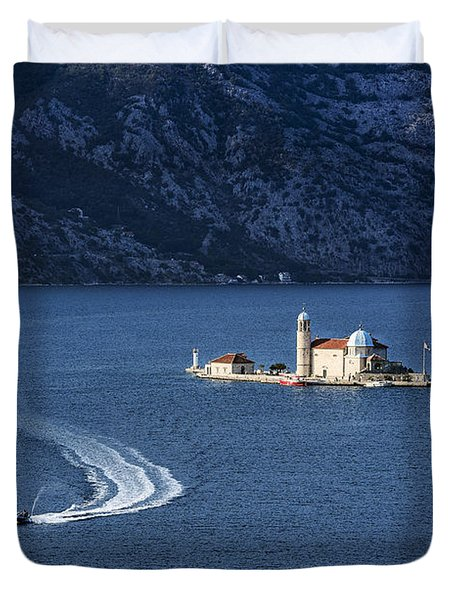 Our Lady Of The Rocks Church Duvet Cover