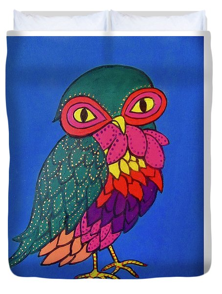 Owl Duvet Cover by Stephanie Moore
