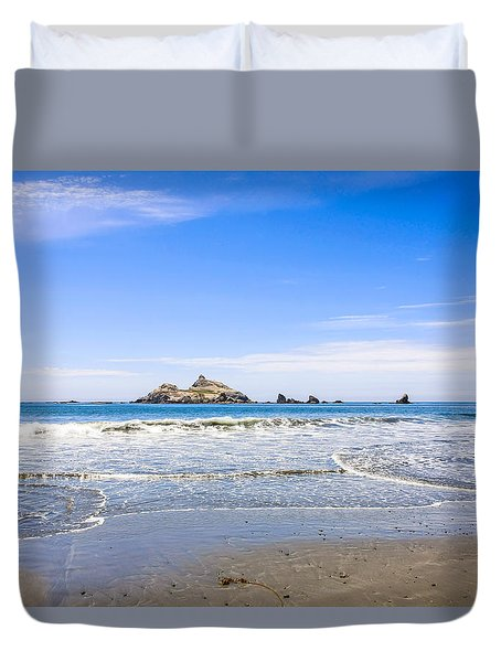 Pacific Coast California Duvet Cover by Chris Smith