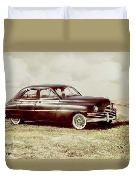 Duvet Cover featuring the digital art Packard2 by Bonnie Willis