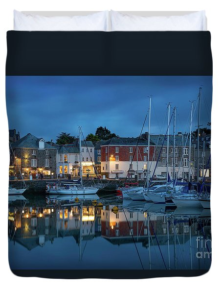 Duvet Cover featuring the photograph Padstow Evening by Brian Jannsen
