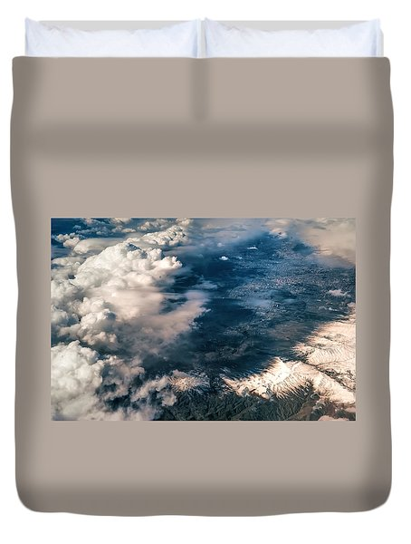 Painted Earth II Duvet Cover by Jenny Rainbow