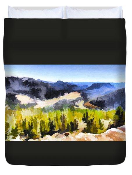 Painted Rockies Duvet Cover