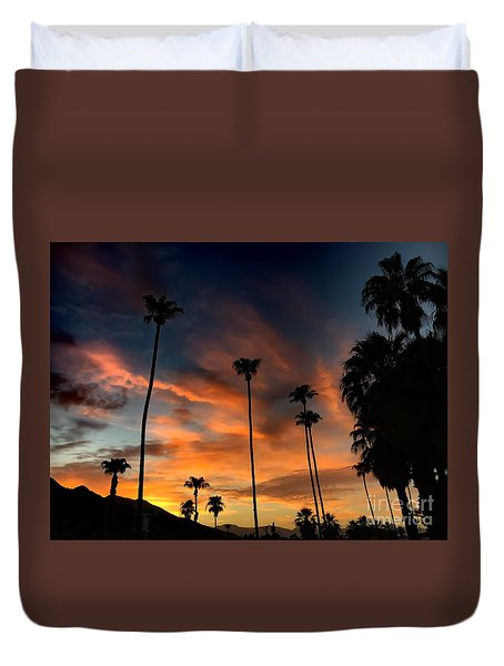 Palm Springs Duvet Cover by Chris Tarpening