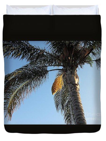 Palm Tree In Torremolinos Duvet Cover