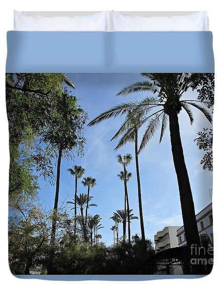 Palm Trees In Jerez Duvet Cover