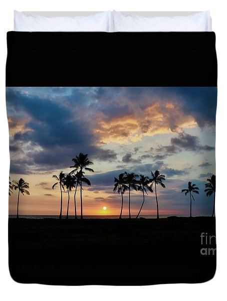 Palms At Sunset Duvet Cover