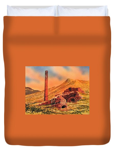 Panamint City Ghost Town California Duvet Cover by Kevin Heaney