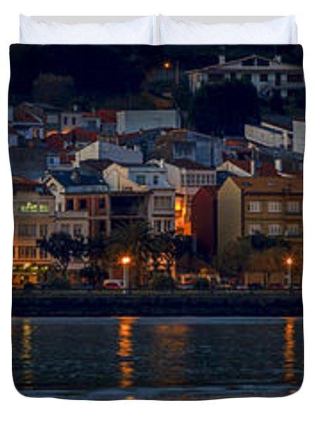Panorama Of Cedeira Galicia Spain Duvet Cover