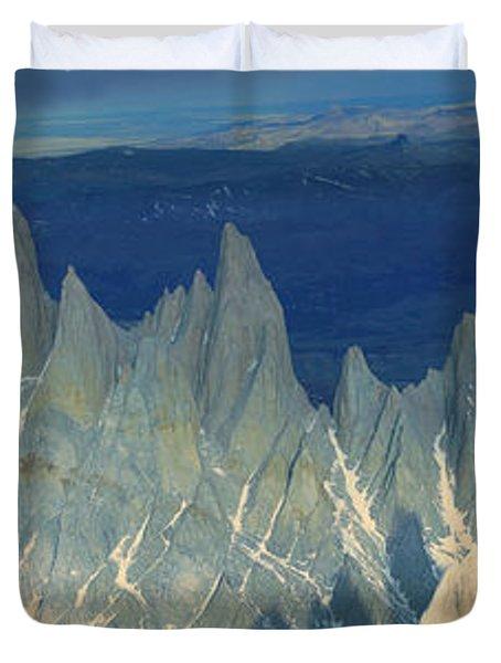 Panoramic Aerial View At 3400 Meters Duvet Cover