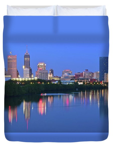 Panoramic Indianapolis Duvet Cover
