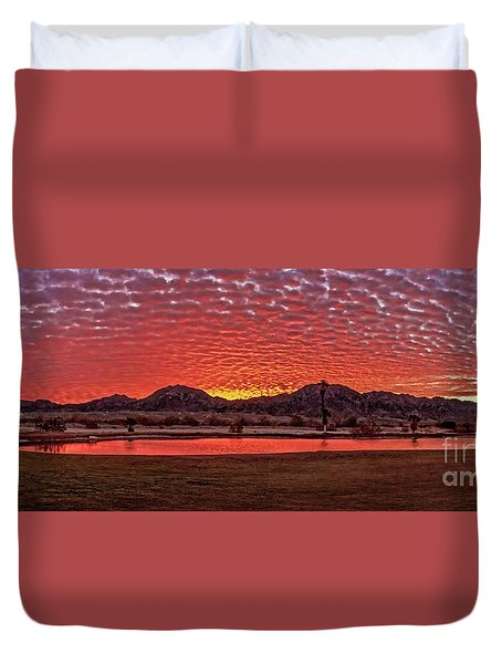 Duvet Cover featuring the photograph Panoramic Sunrise by Robert Bales