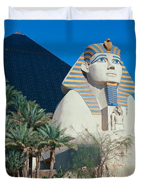 Panoramic View Of Luxor Hotel Duvet Cover