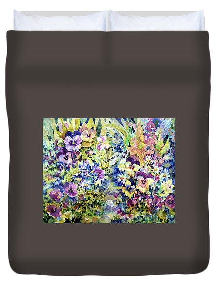 Pansy Path Duvet Cover