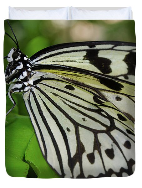 Paper Rice Butterfly Duvet Cover