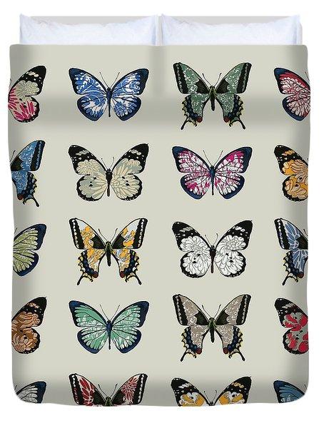 Papillon Duvet Cover by Sarah Hough