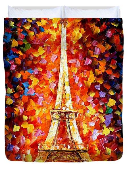 Paris Eiffel Tower Lighted Duvet Cover