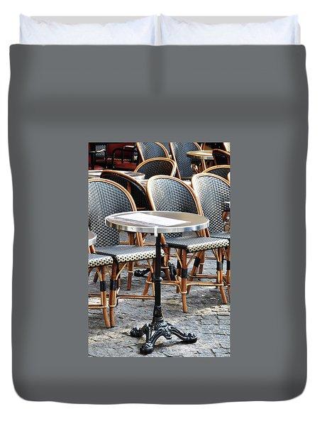 Parisian Cafe Terrace Duvet Cover