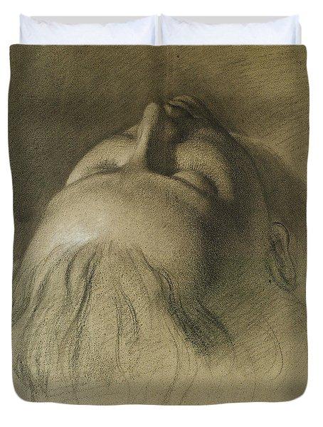 Parisina's Sleep - Study For Head Of Parisina Duvet Cover