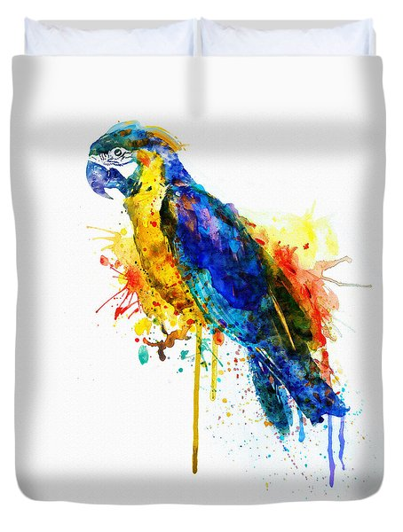 Parrot Watercolor  Duvet Cover