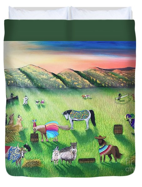 Party Animals Duvet Cover