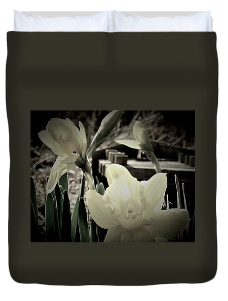 Pastel Daffodil Duvet Cover