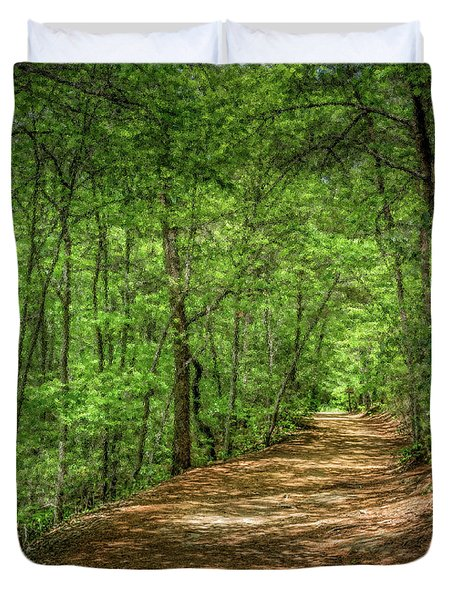 Path Less Travelled - Impressionist Duvet Cover