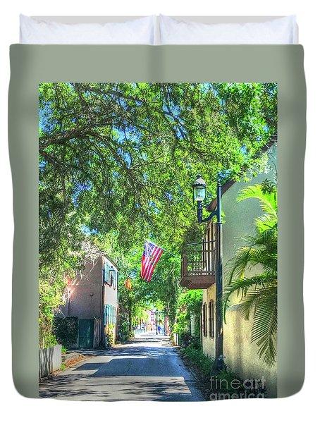 Patriotic Street Duvet Cover by Debbi Granruth