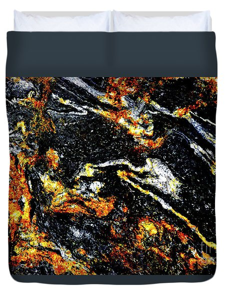 Duvet Cover featuring the photograph Patterns In Stone - 189 by Paul W Faust - Impressions of Light