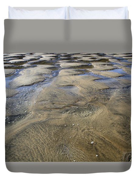 Duvet Cover featuring the photograph Patterns In The Sand II by Shirley Mitchell