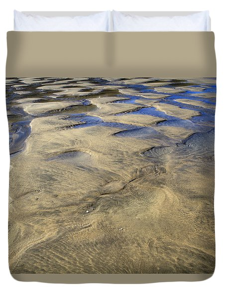 Duvet Cover featuring the photograph Patterns In The Sand IIi by Shirley Mitchell