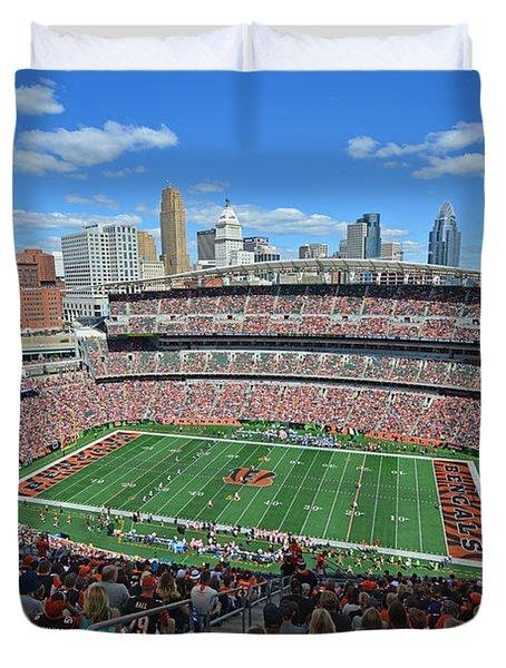 Paul Brown Stadium - Cincinnati Bengals Duvet Cover