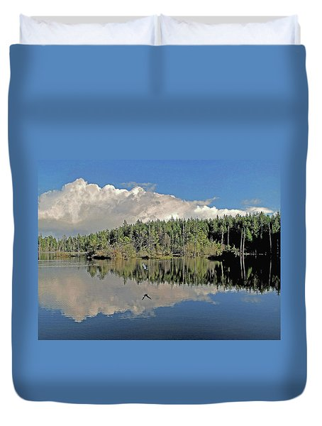 Pause And Reflect Duvet Cover by Suzy Piatt