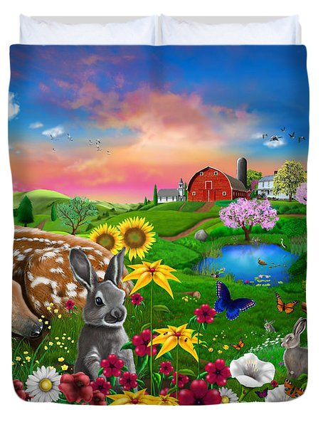 Peaceful Pastures Duvet Cover