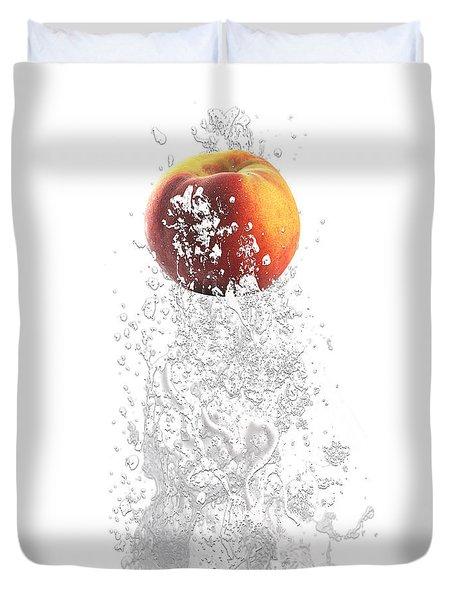 Peach Splash Duvet Cover by Marvin Blaine