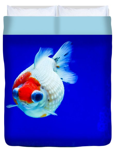 Pearl Scale Goldfish Duvet Cover