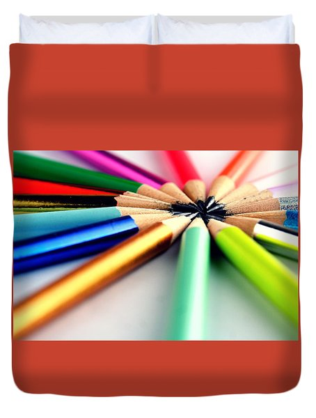 Pencils Duvet Cover by Jun Pinzon
