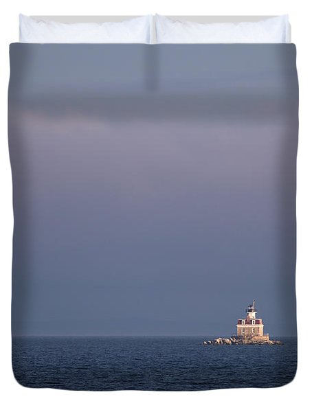 Penfield Reef Lighthouse Duvet Cover