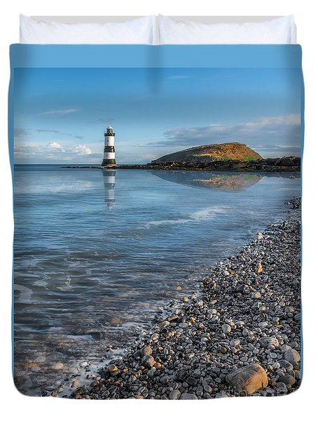 Penmon Point Lighthouse Duvet Cover