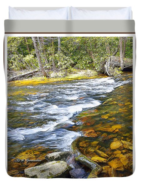 Pennsylvania Mountain Stream Duvet Cover