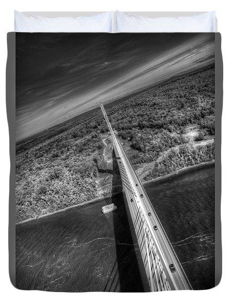 Penobscot Narrows Bridge Duvet Cover