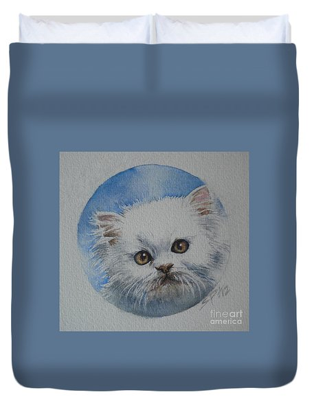 Persian Kitten Duvet Cover by Sandra Phryce-Jones