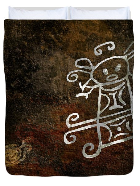 Petroglyph 1 Duvet Cover