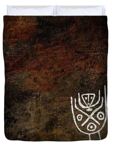 Petroglyph 3 Duvet Cover