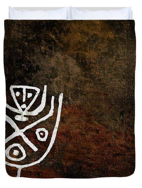 Petroglyph 4 Duvet Cover