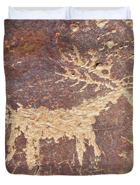 Petroglyph - Fremont Indian Duvet Cover