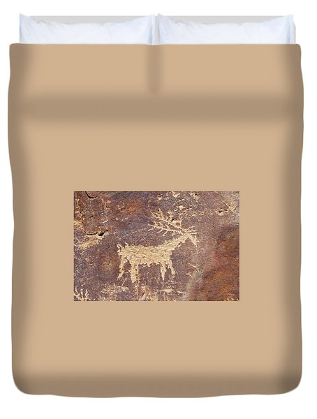 Petroglyph - Fremont Indian Duvet Cover
